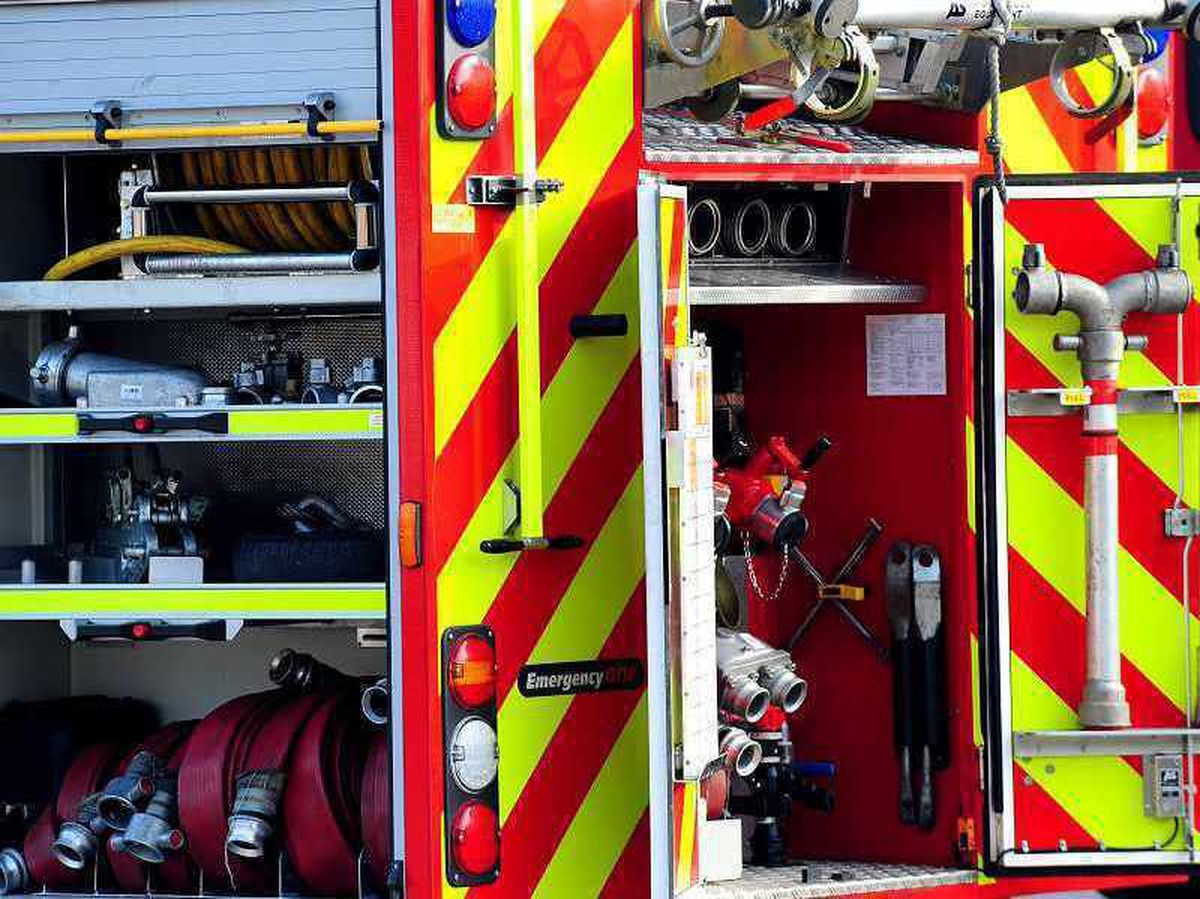 Fire and ambulance attend two-car crash