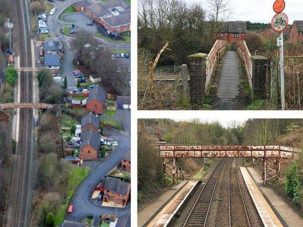 The footbridge near Oakengates Station