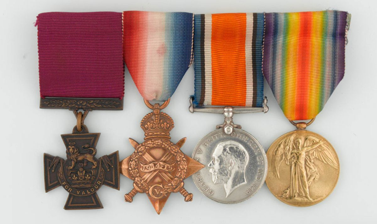 The Hednesford hero's medals
