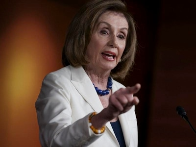 Nancy Pelosi scolds reporter for asking if she hates Donald Trump