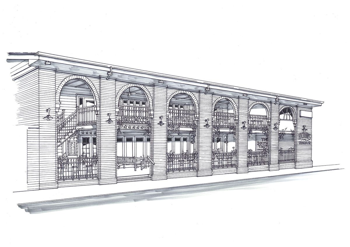 An artist impression of the new Hickory's