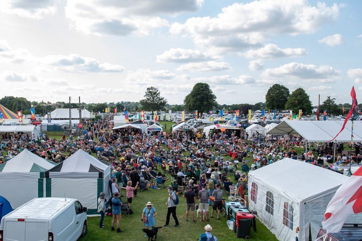 Crowds at the folk festival. Photo: Steven Oliver Photography