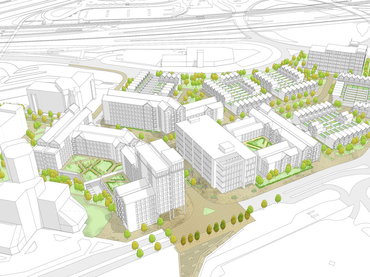 An artist's impression of the Station Quarter project in Telford