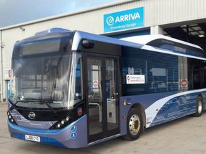 One of the electric buses that has been trialled on Shrewsbury's park and ride service