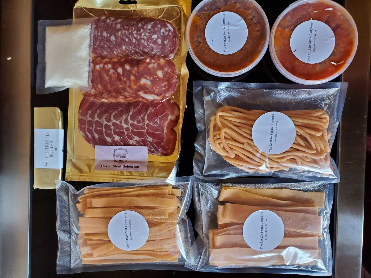 Ingredients from the pasta box