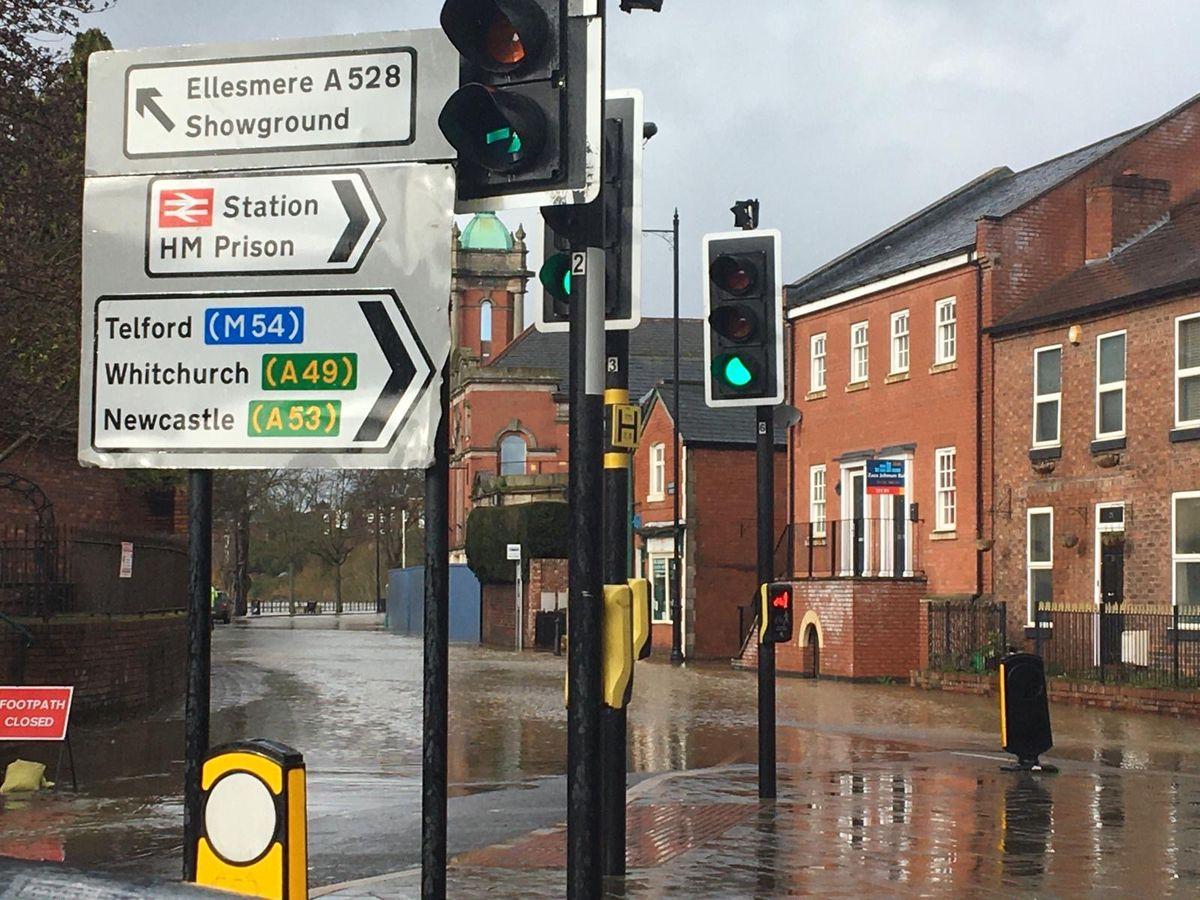 Flooding in Shrewsbury