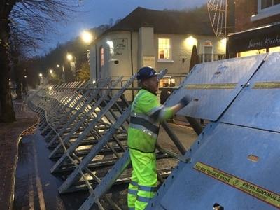 Ironbridge flood barriers coming down as warnings remain for region