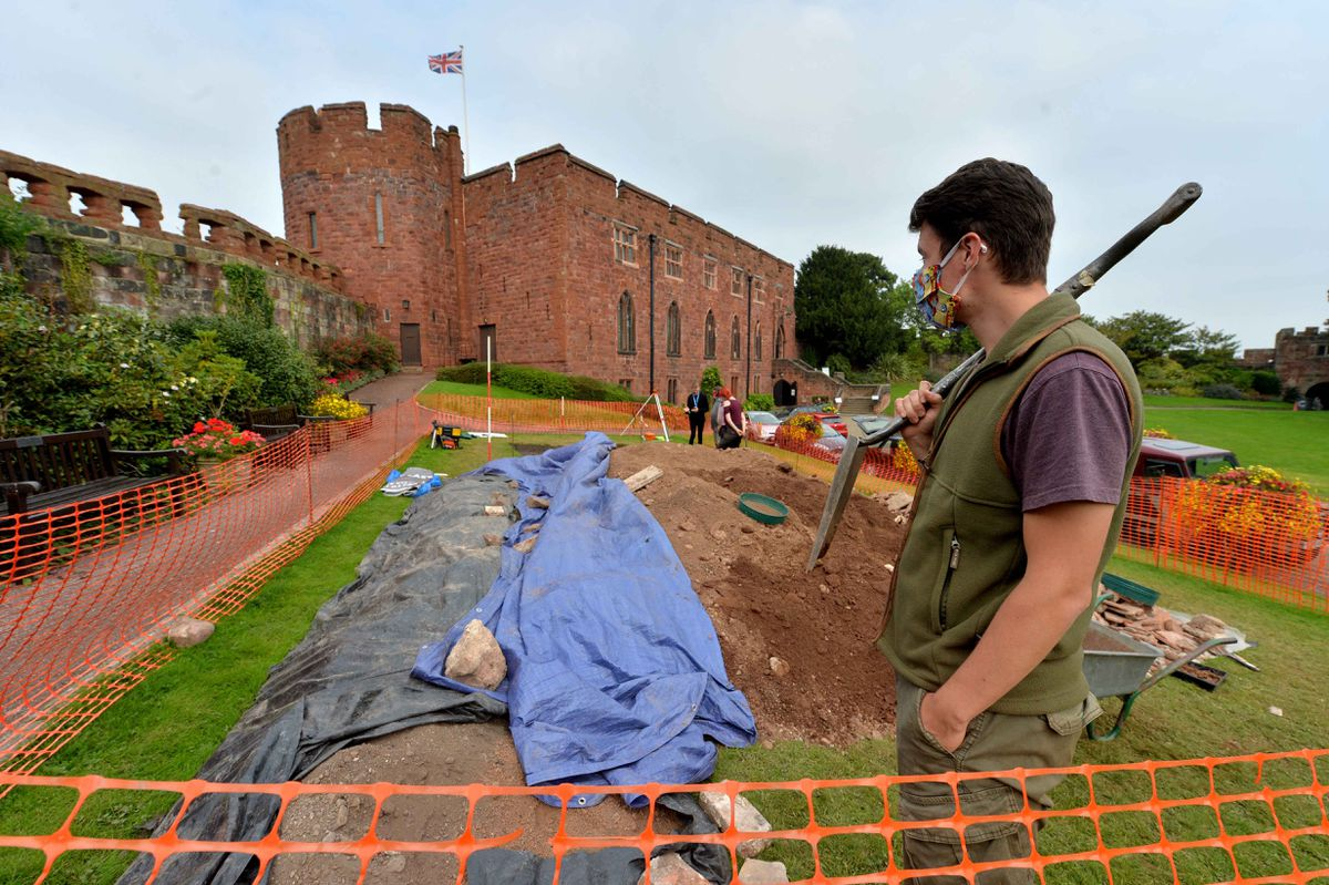 Student Ryan Locklin from Telford at the Shrewsbury Castle dig