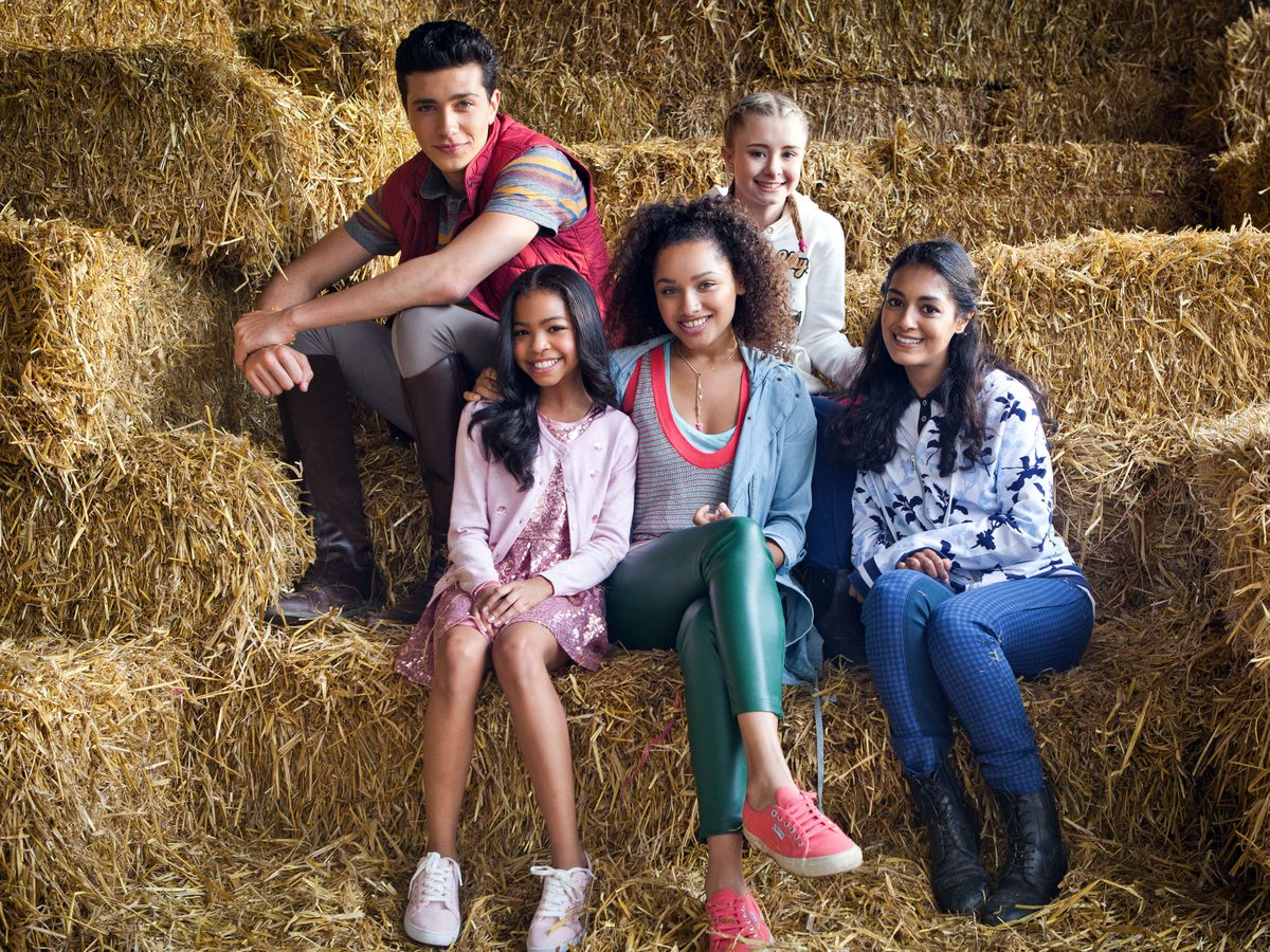 The cast of new Netflix series Free Rein which has been filmed in and around Ellesmere
