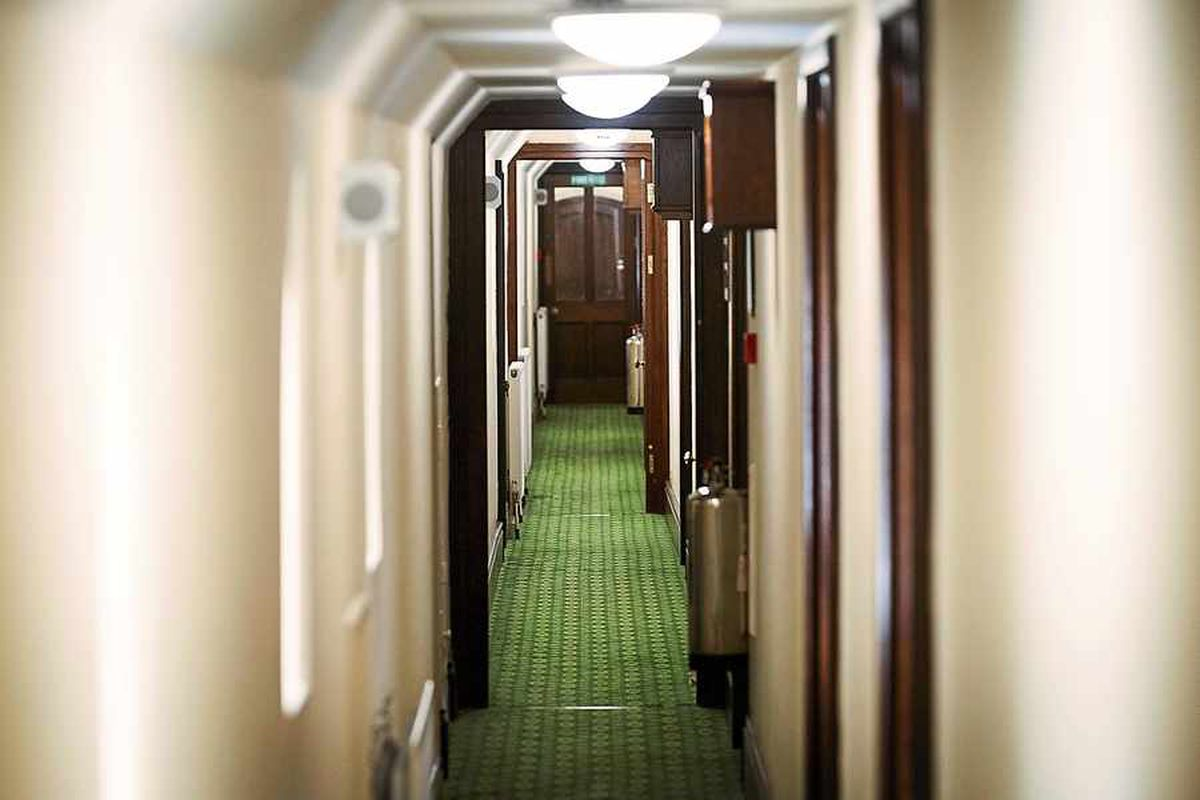 The House of Parliament corridor which leads to Lucy Allan's new office