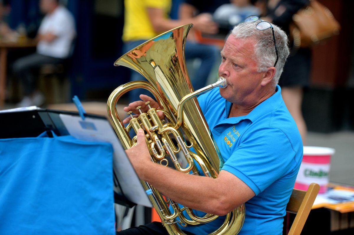 Brass Quartet 'The Brass Buttons' perform