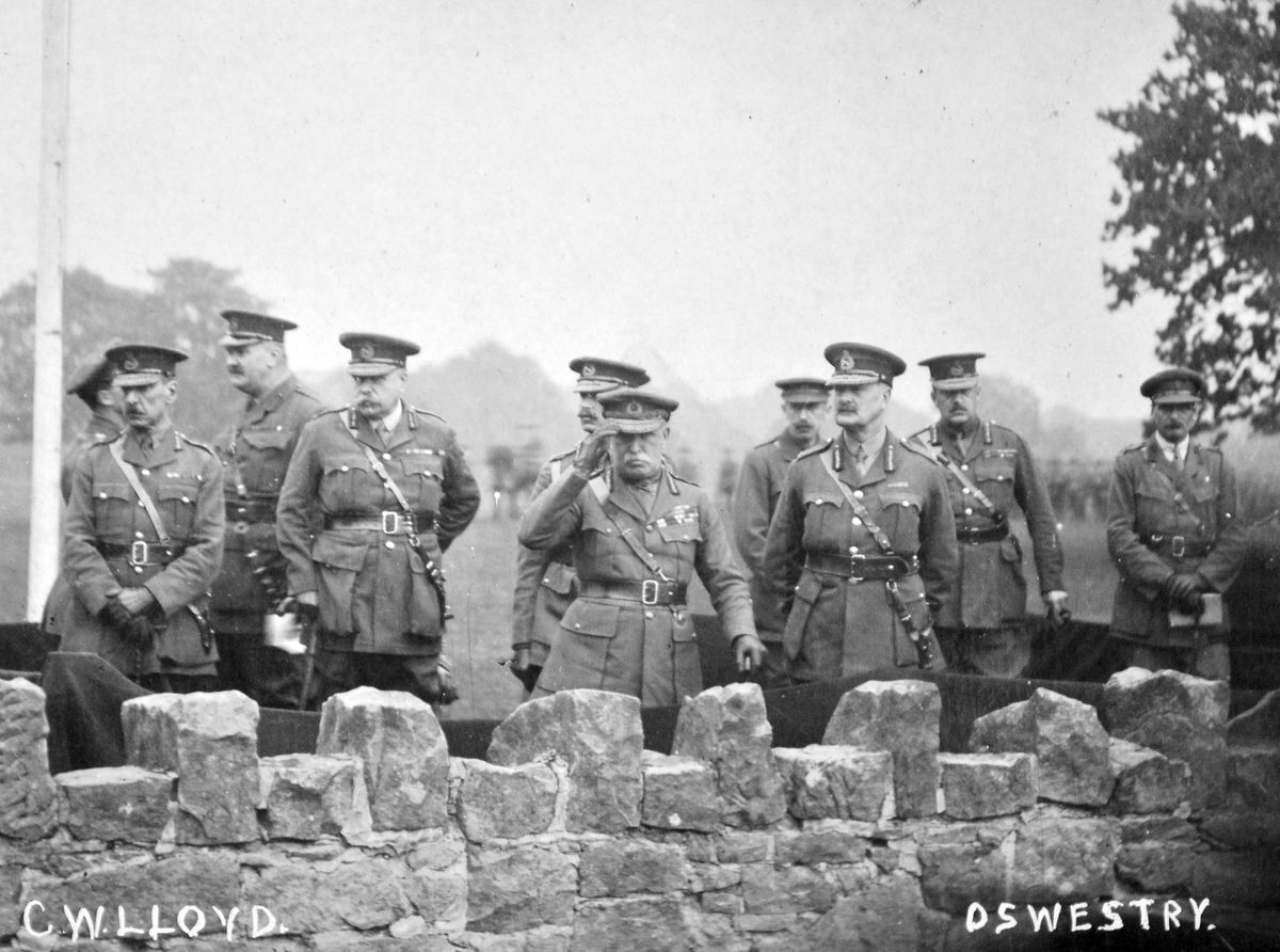 The military top brass at Oswestry.