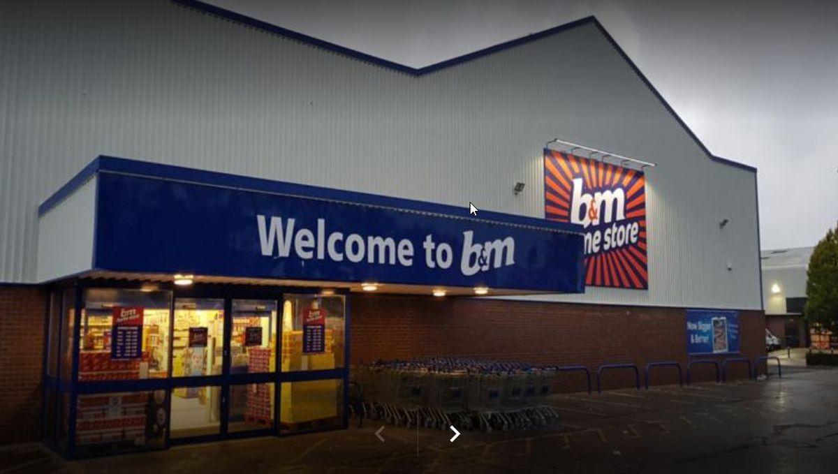 A man brandished an axe at staff at B&M in Harlescott, Shrewsbury