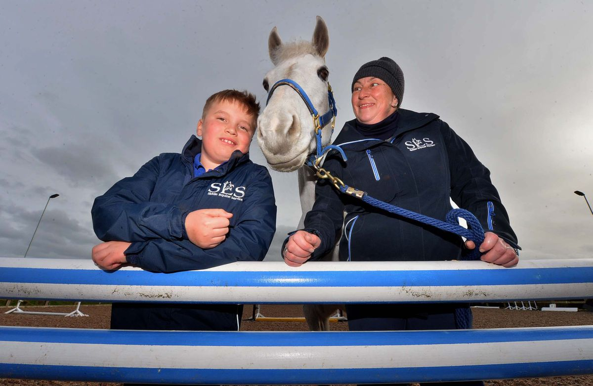 Chantal Siddle and son Barney, 10, pictured with horse Rocky, are delighted the pod plan can progress
