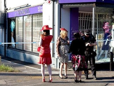 Horses crash into designer clothes shop window near Royal Ascot
