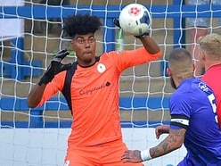 AFC Telford United look at Coventry City goalkeeper Corey Addai