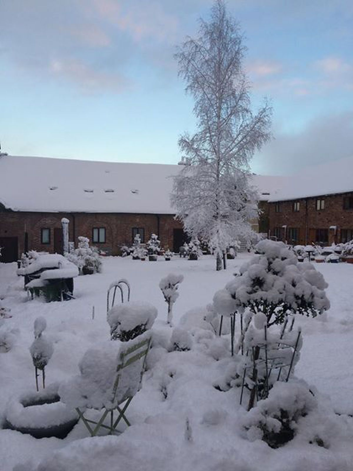 King Charles Barns in Madley looking beautiful in the snow. Photo: Penny Lock.