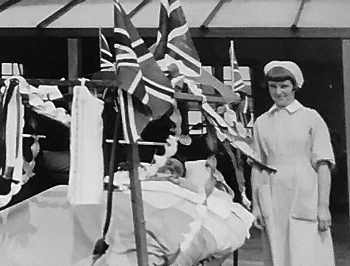 The flags are out for this patient at the orthopaedic hospital.