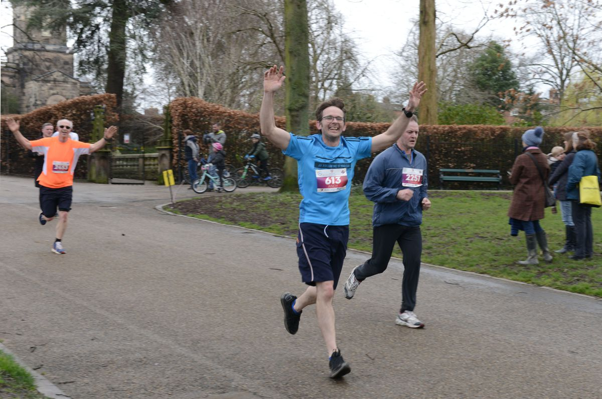 Runners make their way through the Quarry during the Shrewsbury 10K