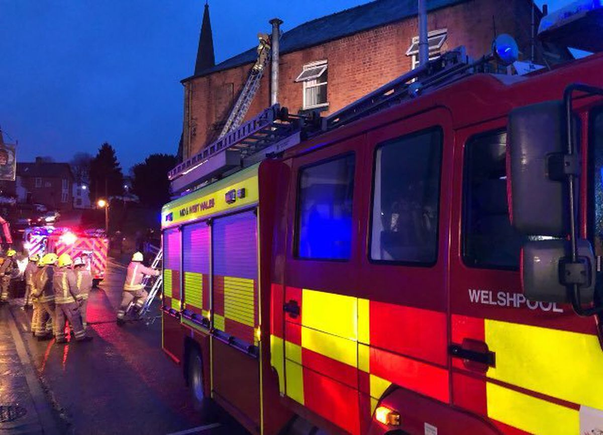 Picture from Welshpool Fire Station
