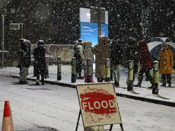 Winter weather and flooding in Didsbury