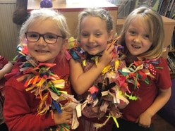 That's a wrap, girls, as school near Oswestry gears up for fundraiser
