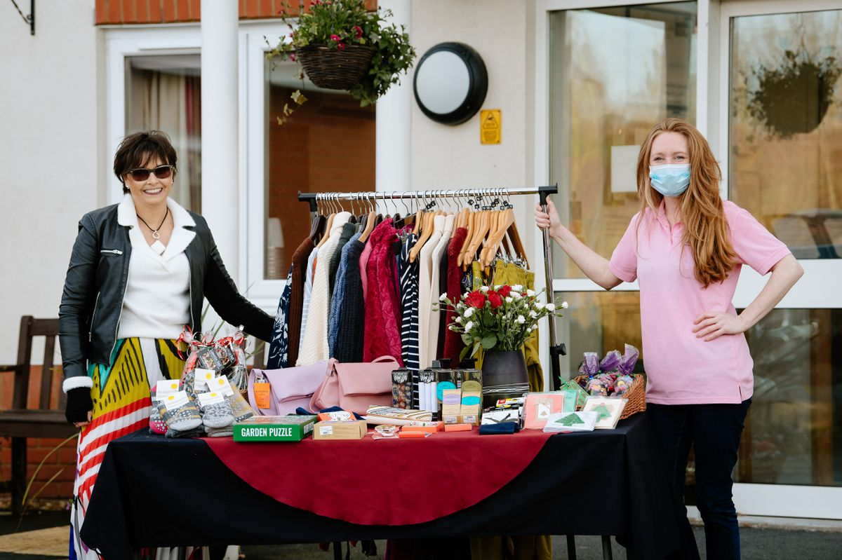 Debby Gatehouse, left, of Practical Style with Angie McAuliffe of Hagley Place