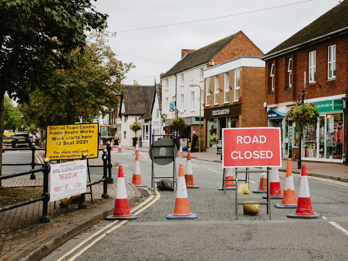 Work has started on Shifnal's town centre roads, beginning on Bradford Street