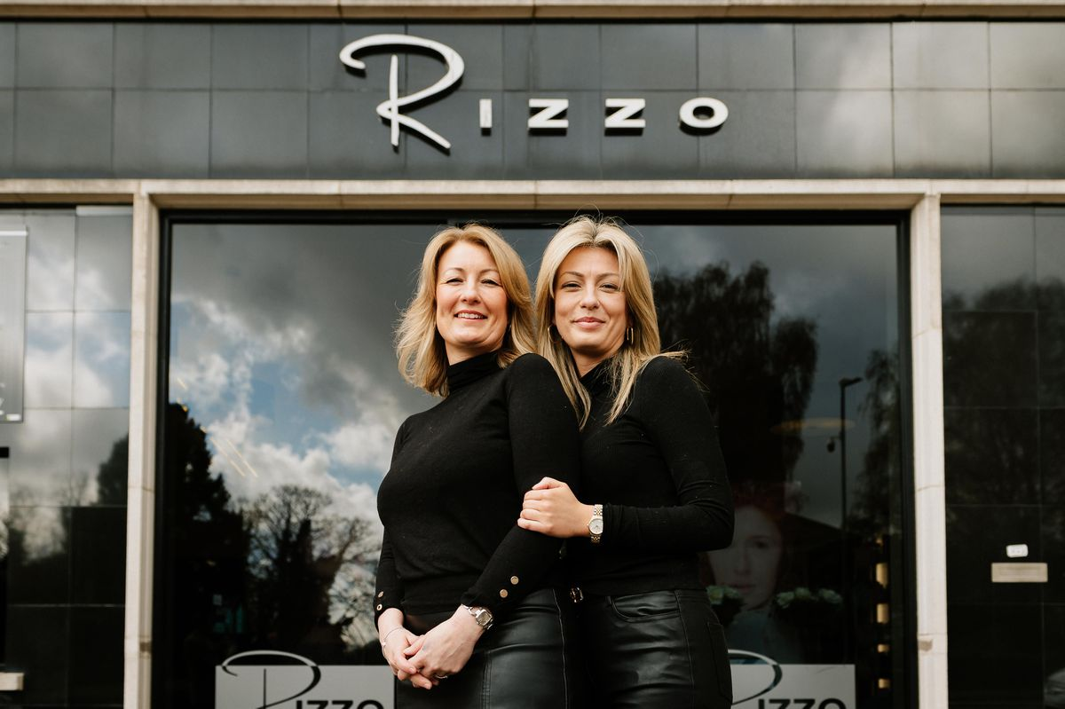 Rizzo Hairdressing in Wellington, Telford. Pictured: Owners Deborah Hinton and daughter Jayde Hinton.