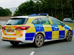 Two-car crash closes main road in Shrewsbury