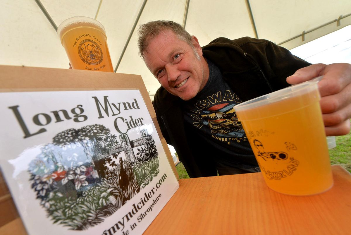 On the Long Mynd cider and all the way from Bromsgrove is Simon Cummins