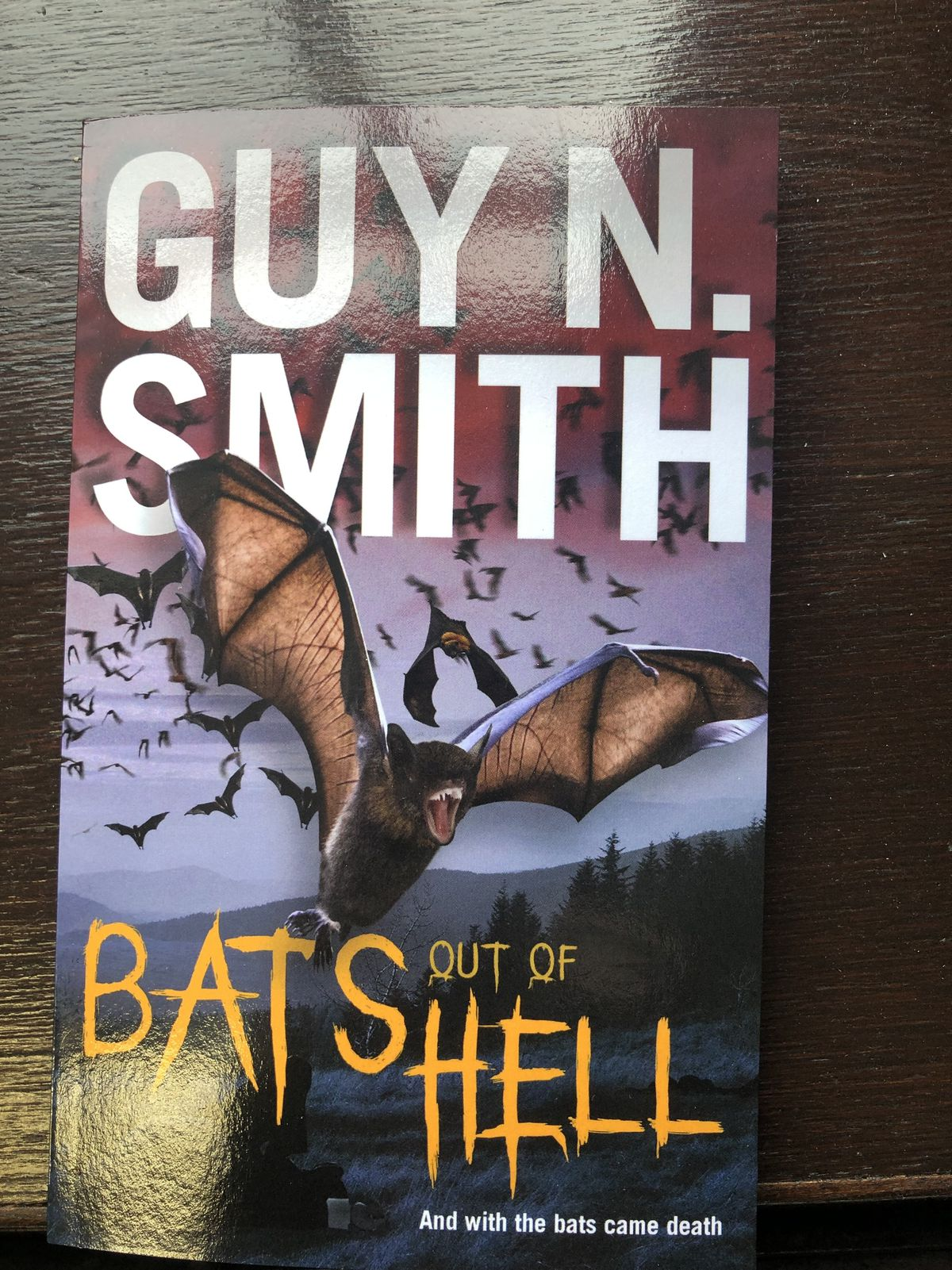 Guy N Smith's novel about a bat causing a pandemic on Cannock Chase was re-released last year