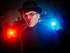 Dru clowning around back home in Oswestry after Edinburgh Fringe success