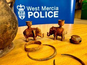 Stolen treasure was found by an amateur metal detectorist