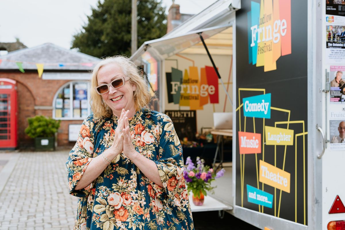 Ludlow Fringe Festival is back for 2021 between 19 June - 18 July. In Picture: Festival Director Anita Bigsby