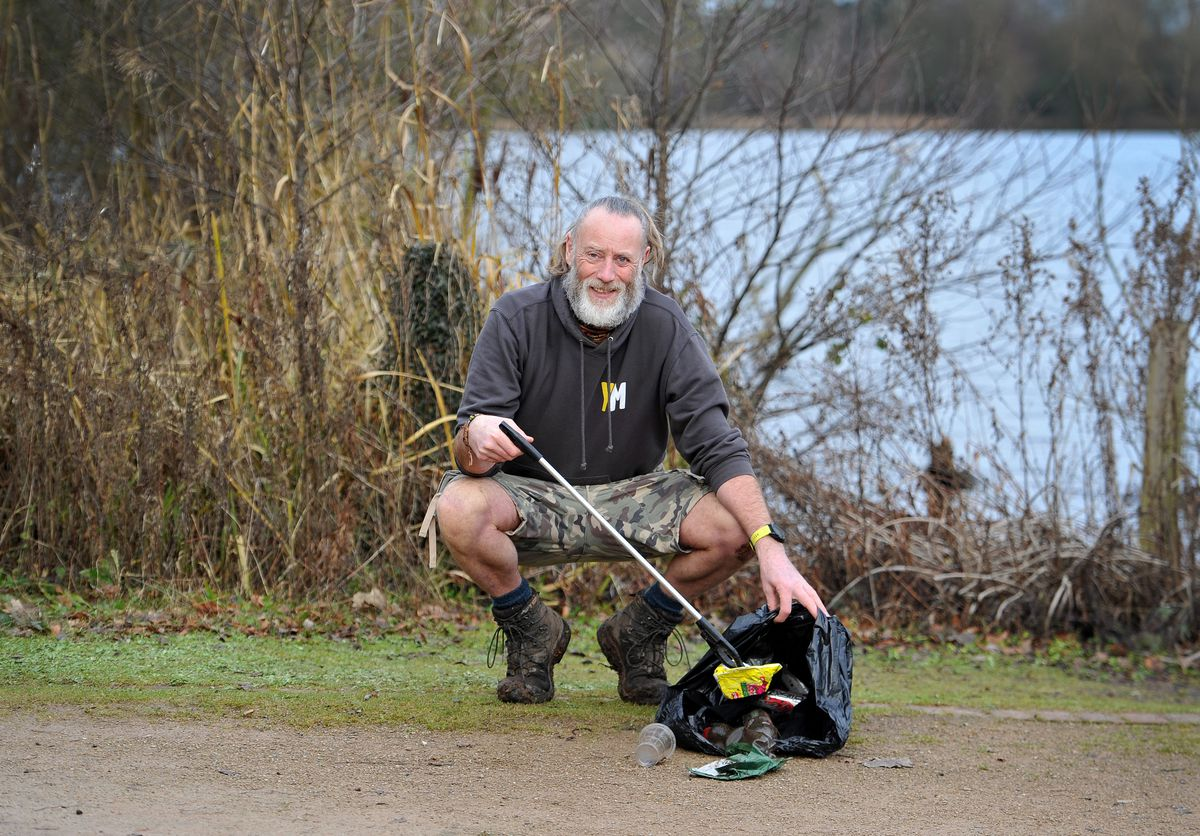Local Ellesmere resident Ricky Roberts, who regularly picks up the litter around his neighbourhood