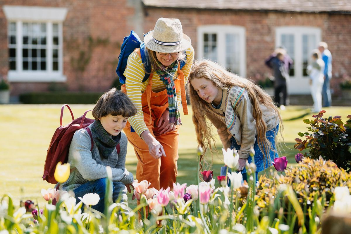 Hugh Walker, 15, Jo Walker and Merab Walker, 12, from Bridgnorth, enjoy the gardens at Westwood
