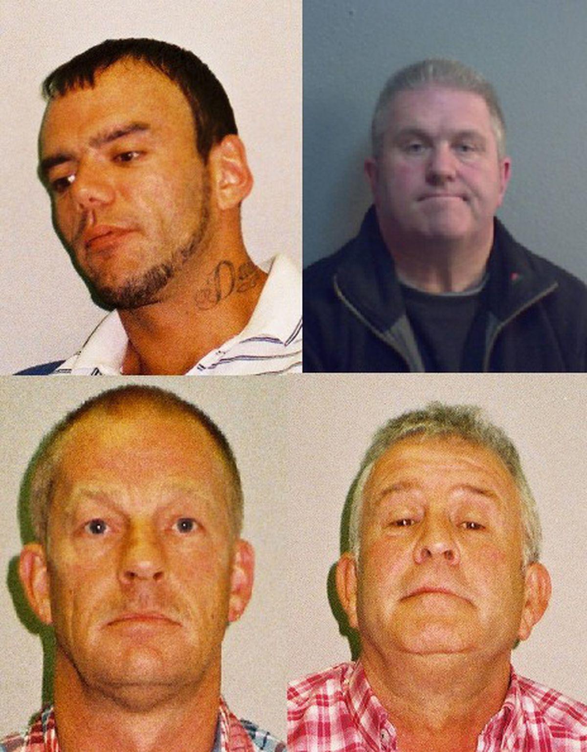 Top L-R George Dennis Powell, Simon David Wicks, Bottom L-R Layton Allan Davies, Paul Wells