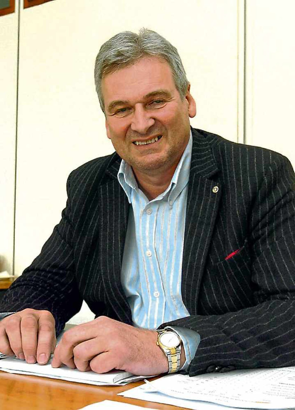 Leader of the council Keith Barrow