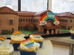 Cake in shape of Telford hospital helps celebrate NHS birthday