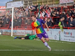 'Fantastic' Altrincham FC wear LGBT-themed kit in competitive fixture