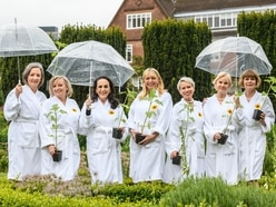 Cast of Calendar Girls plant special flowers at Birmingham's Winterbourne House and Gardens