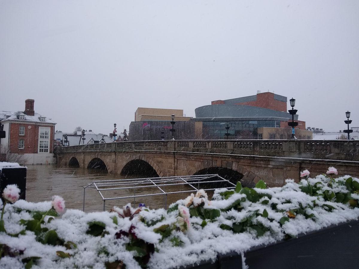 Welsh Bridge, Shrewsbury, on Sunday morning
