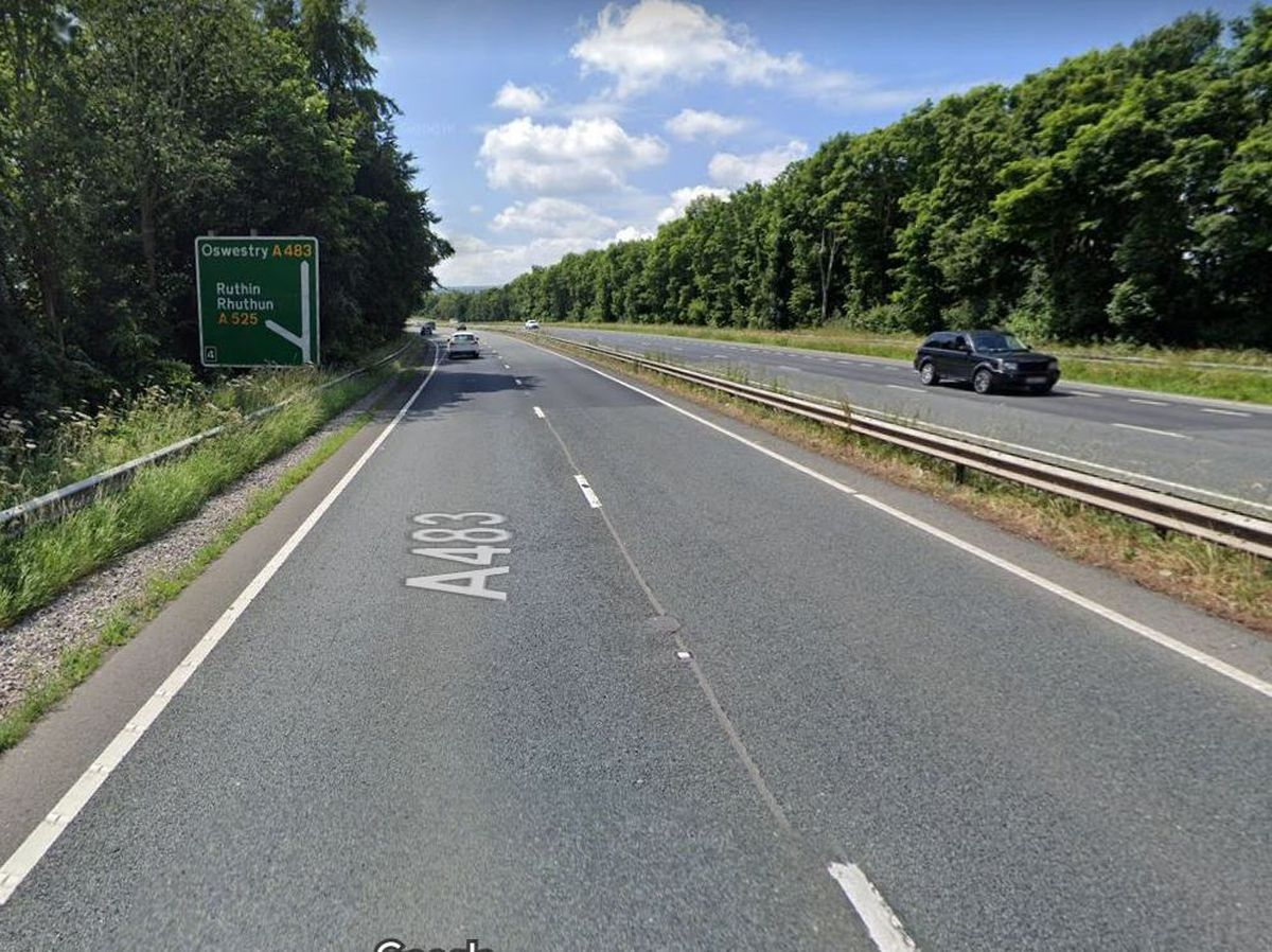 The A483 at Wrexham. Photo: Google