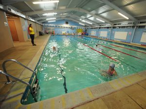 The swimming pool at Teme Leisure Centre in Church Stretton