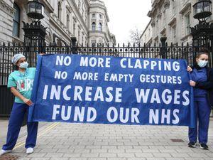 Nurses pay protest
