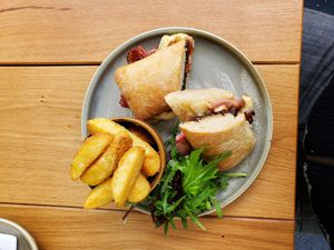A posh bacon butty made the perfect light lunch