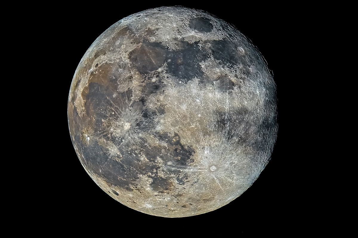 The supermoon image taken earlier this year during the first stage of lockdown