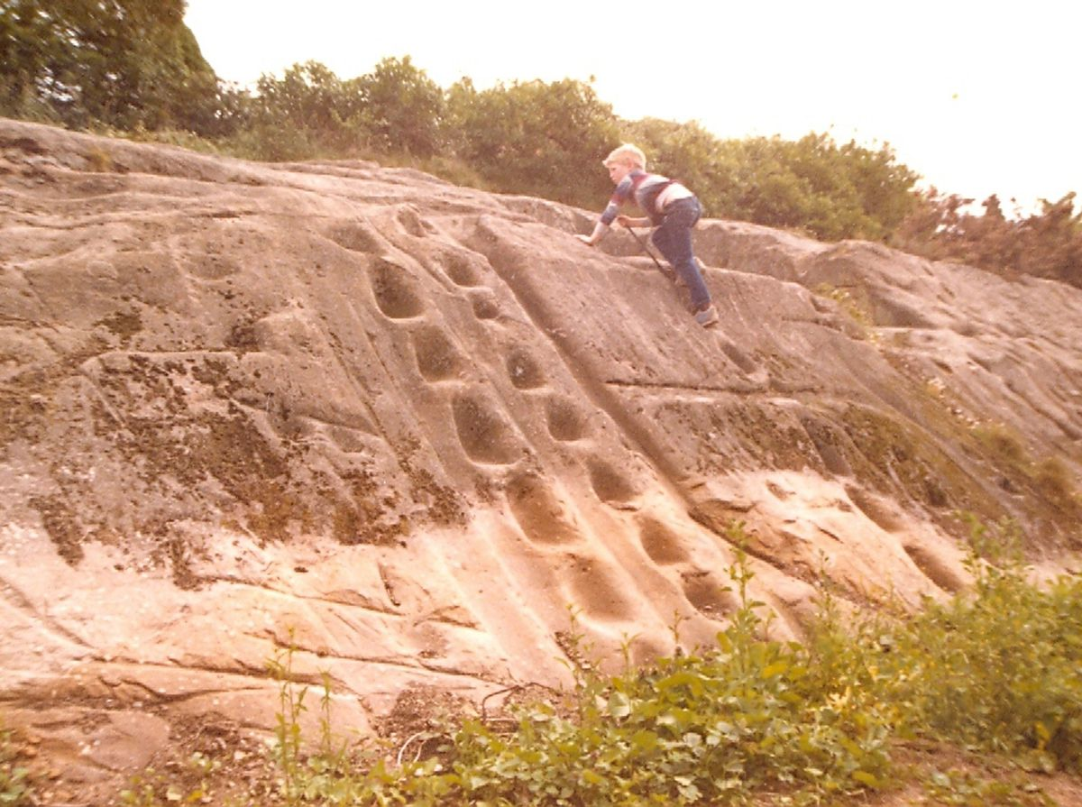 This sandstone feature has been identified by readers as being in Myddle