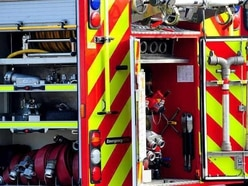 Crews deal with two-car crash in Telford